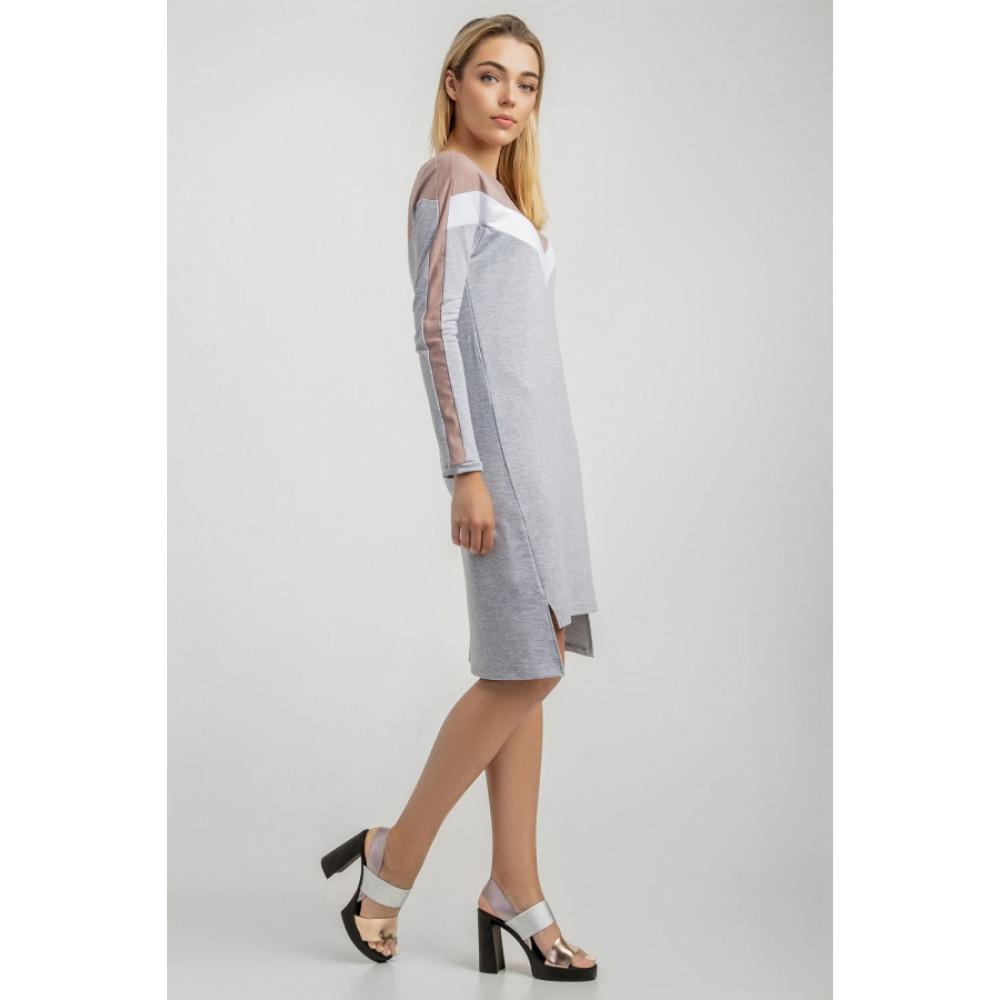 Комбинированное платье City фото 3