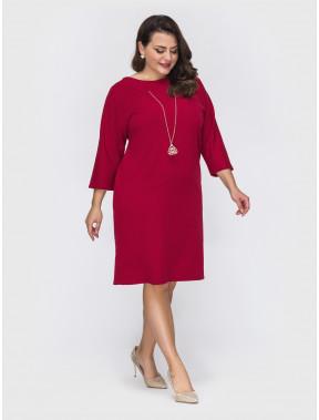 Элегантное красное платье с украшением Альбина