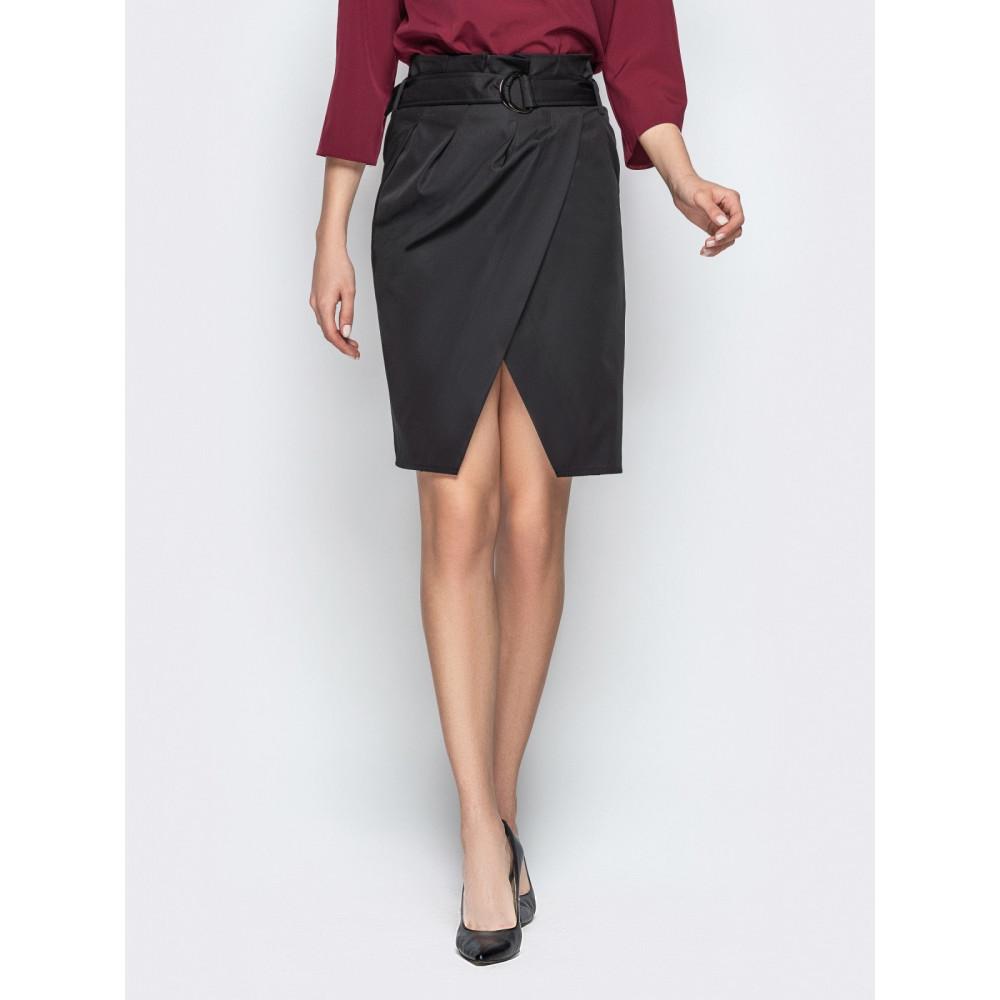Интересная юбка-тюльпан из плотного коттона фото 1