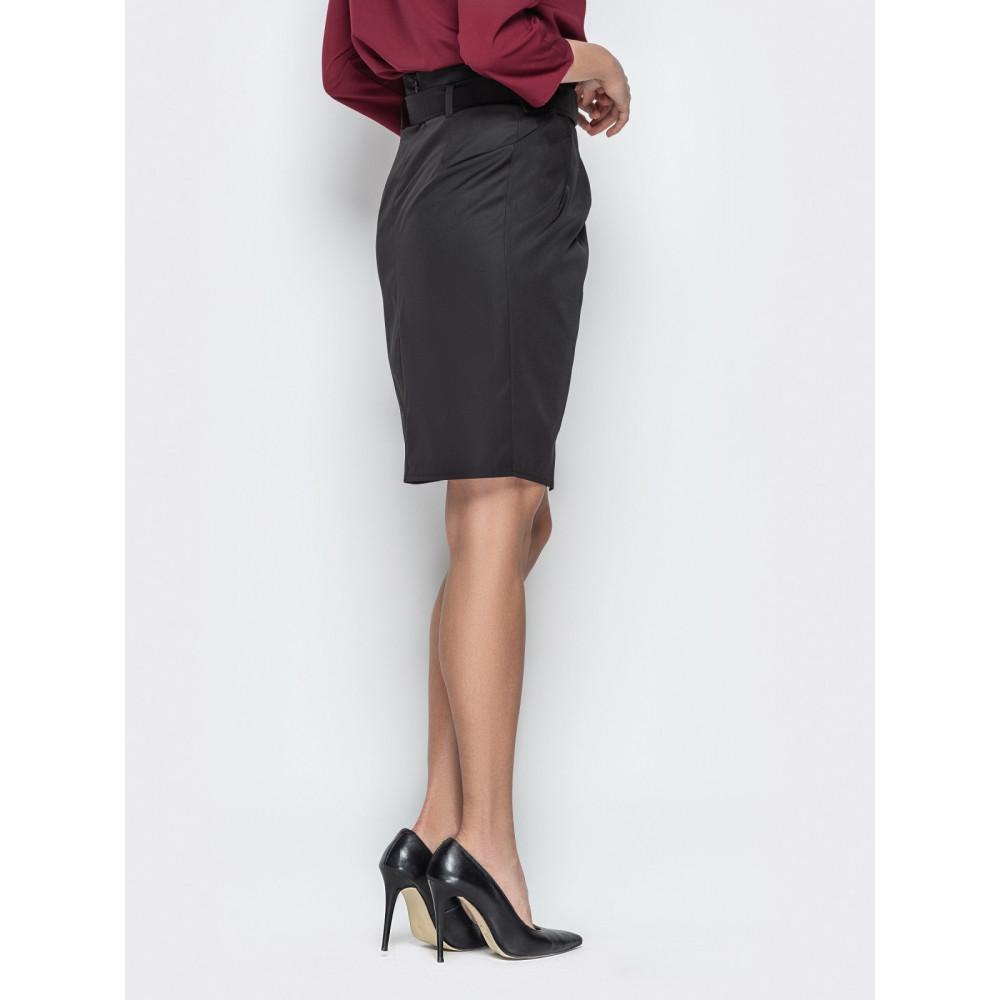 Интересная юбка-тюльпан из плотного коттона фото 3