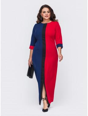 Интересное платье в стиле color-block Амстердам