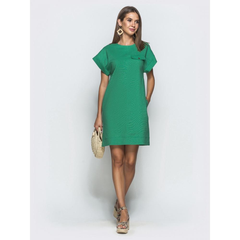 Лаконичное льняное платье прямого кроя фото 1