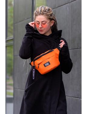 Оранжевая квадратная сумка на пояс Without