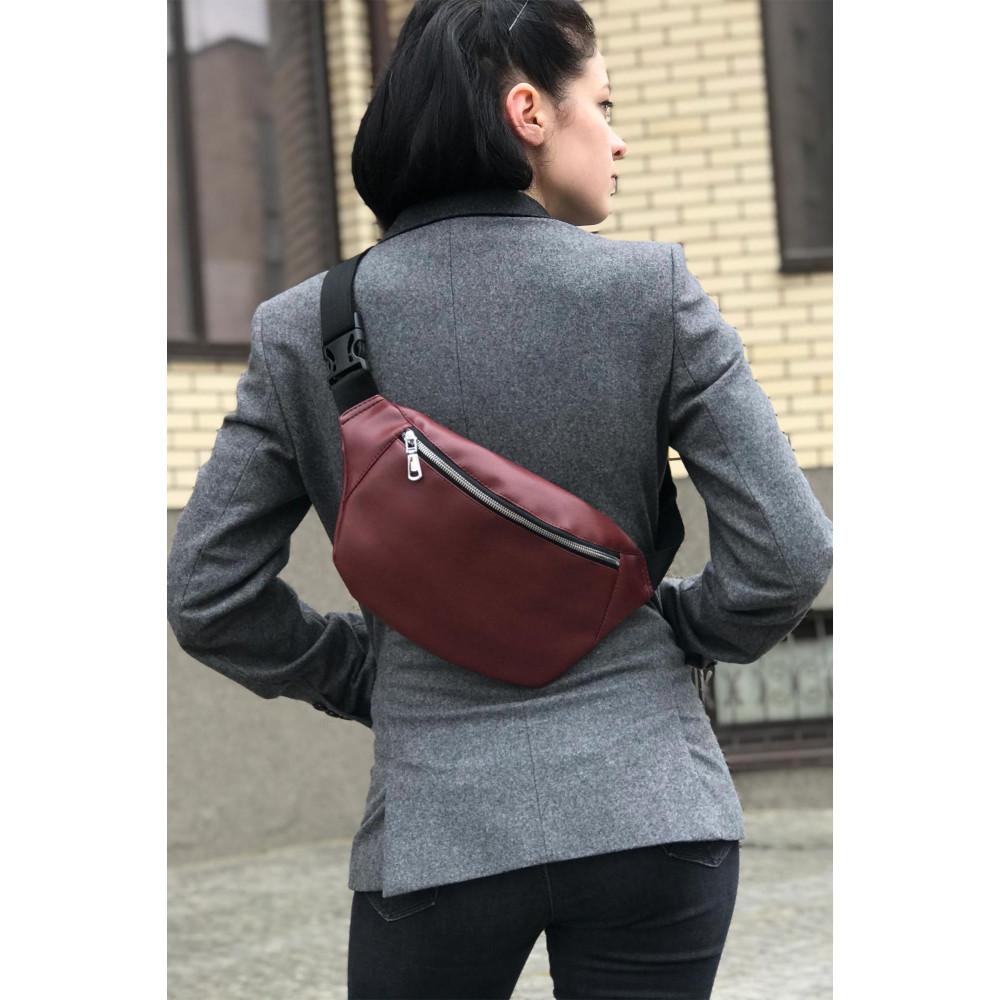 Бордовая сумка прямоугольной формы FLEX фото 1