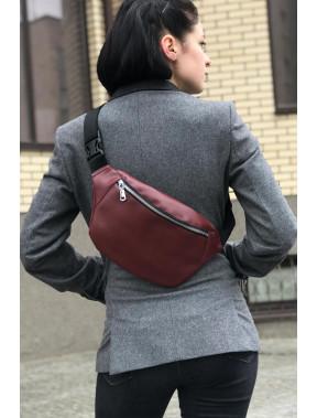 Бордовая сумка прямоугольной формы FLEX