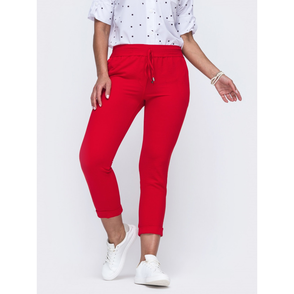 Червоні штани довжиною 7/8 Аліка фото 1