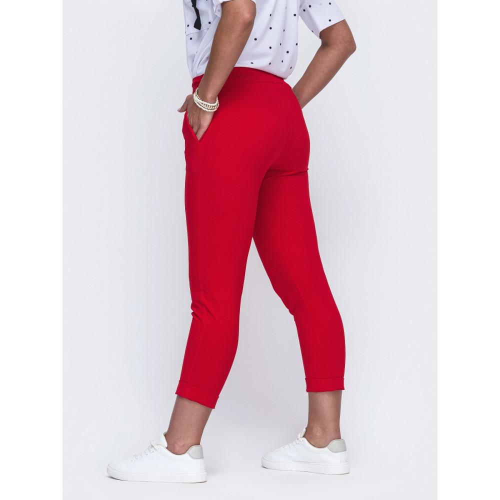 Червоні штани довжиною 7/8 Аліка фото 2