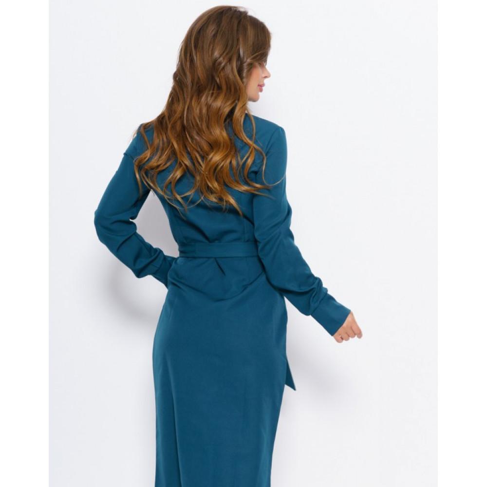 Бирюзовое платье на пуговицах Мэри фото 3