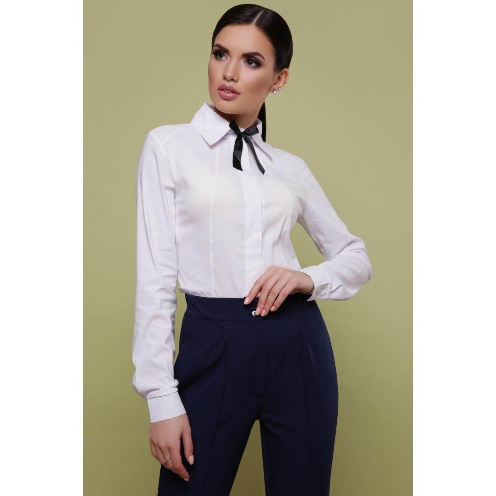 Красивая белая рубашка Норма фото 1
