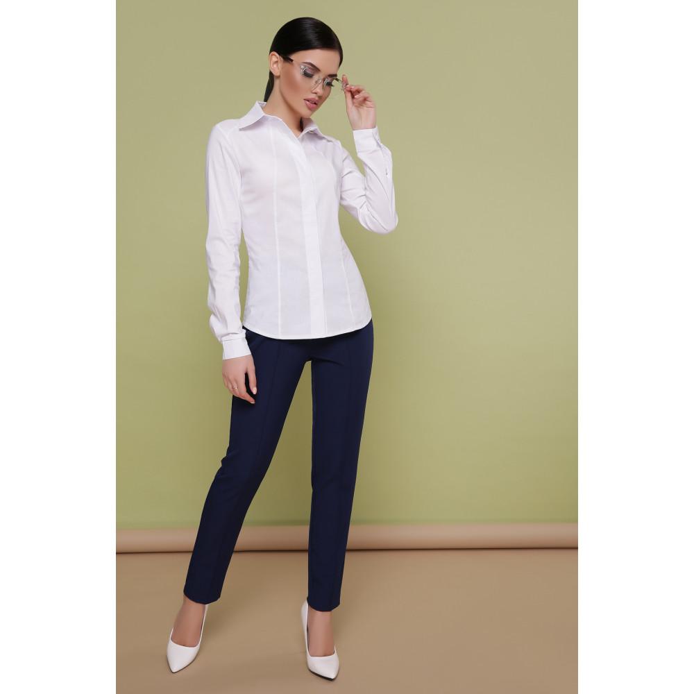 Красивая белая рубашка Норма фото 2