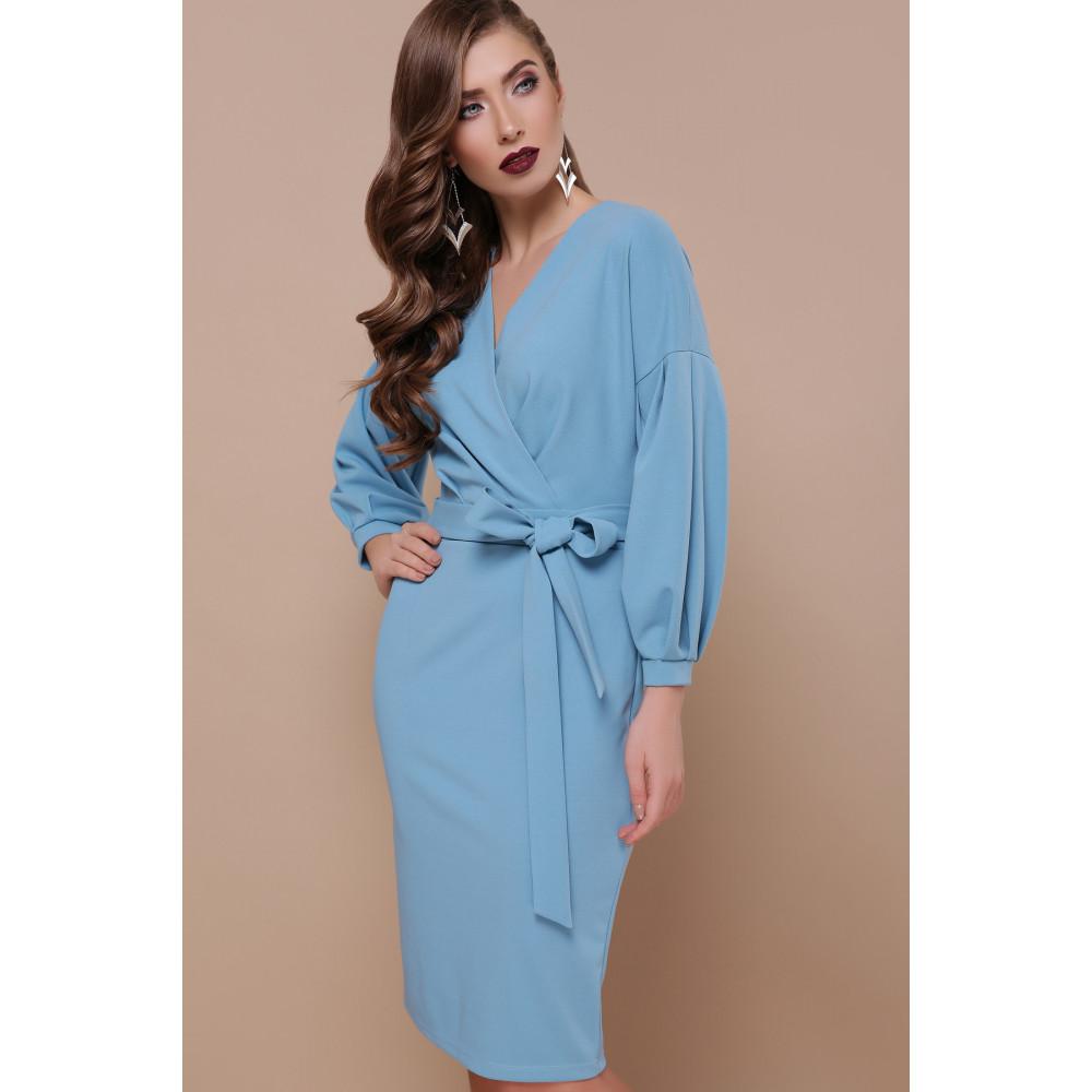 Красивое голубое платье Одри фото 2