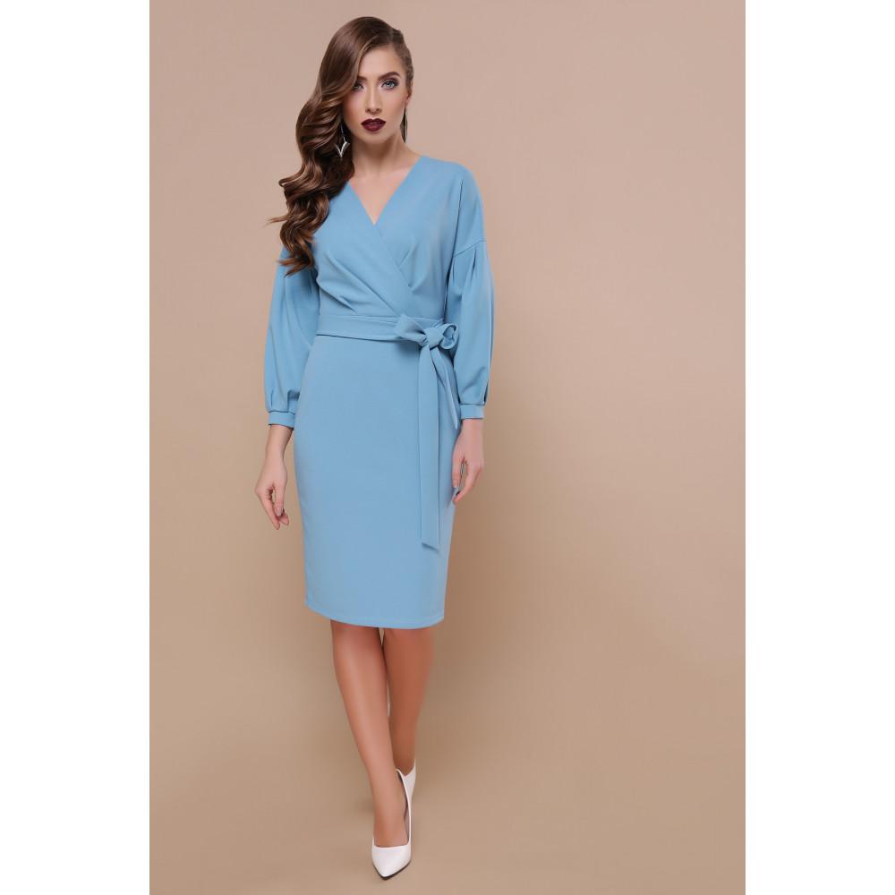 Красивое голубое платье Одри фото 1