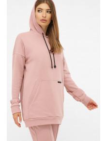 Розовое удлиненное худи Рипли