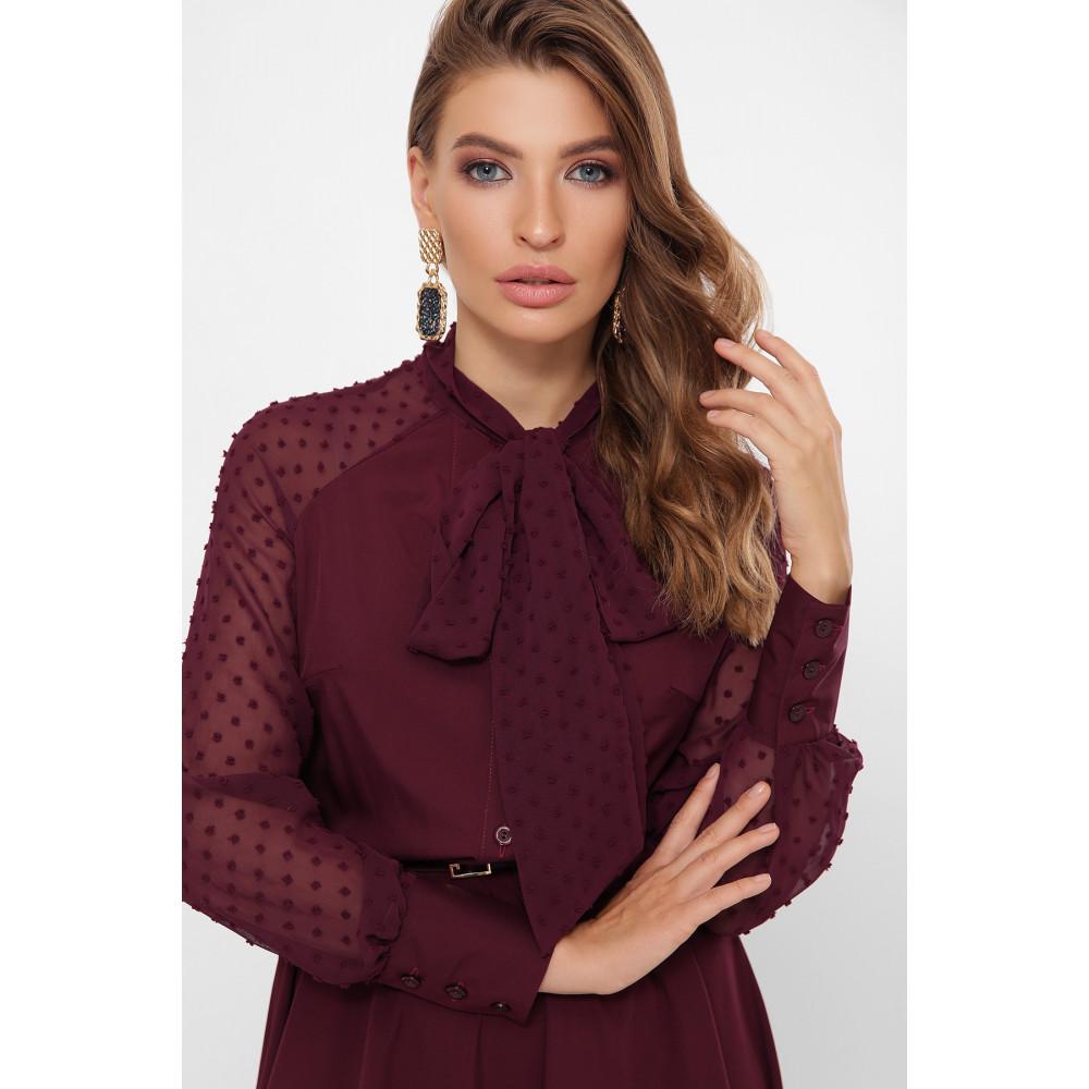 Изумительное бордовое платье-клеш Аля фото 3