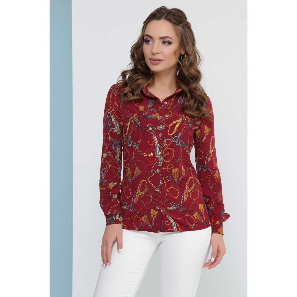 Женская блузка с необычным рисунком фото 1