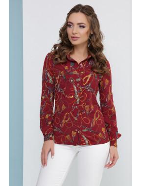 Жіночна блуза з цікавим принтом