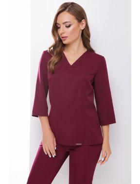 Мінімалістична блузка з V-вирізом Рамона
