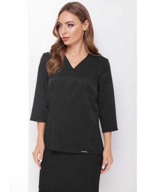 Чорна блузка з V-вирізом Рамона