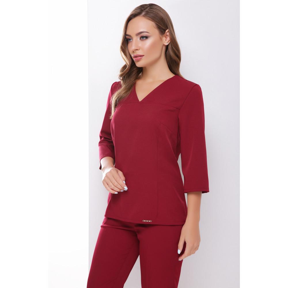 Бордовая блузка с V-вырезом Рамона фото 1