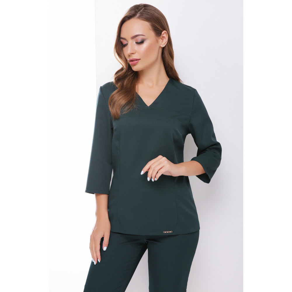 Лаконичная зеленая блузка Рамона фото 1