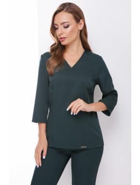 Лаконічна зелена блузка Рамона