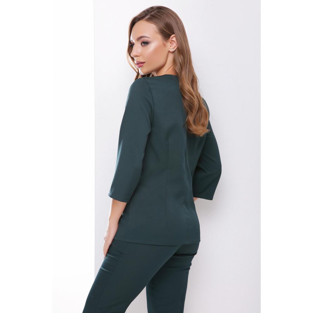 Лаконичная зеленая блузка Рамона фото 2