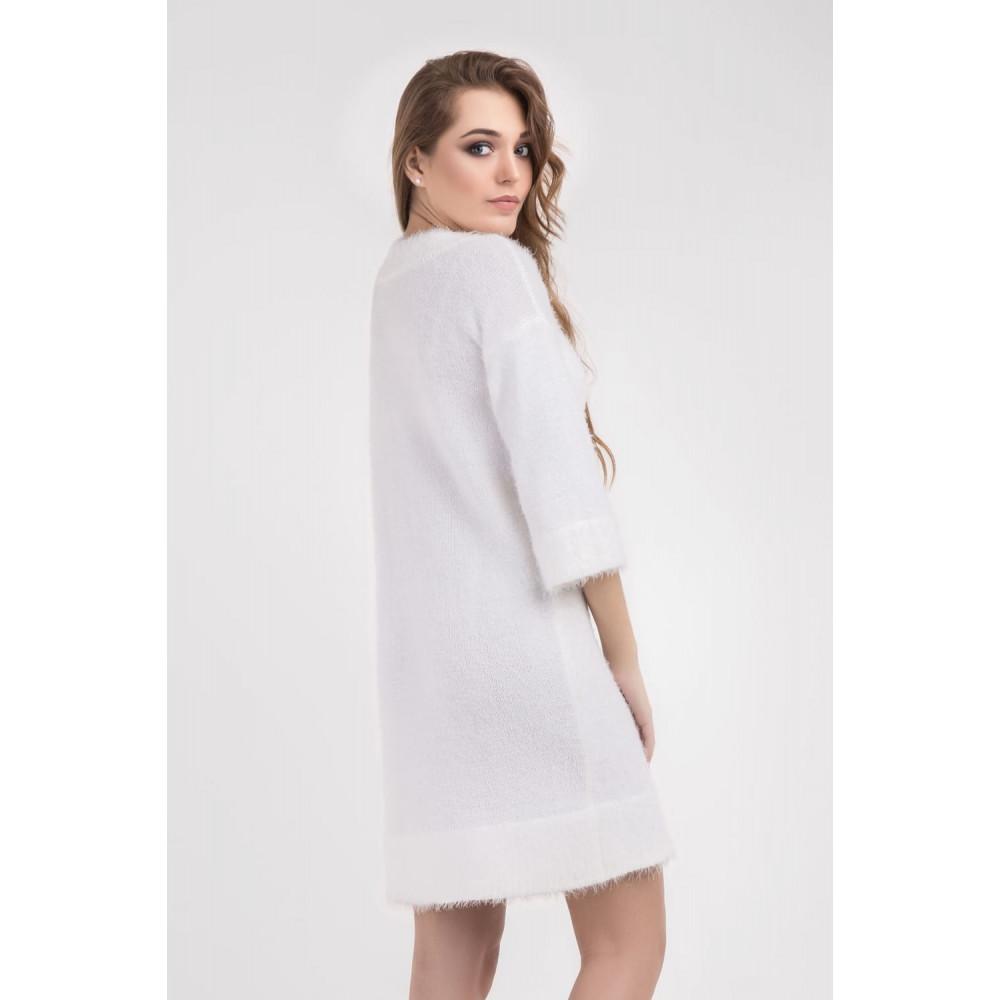 Белоснежное нежное платье фото 3