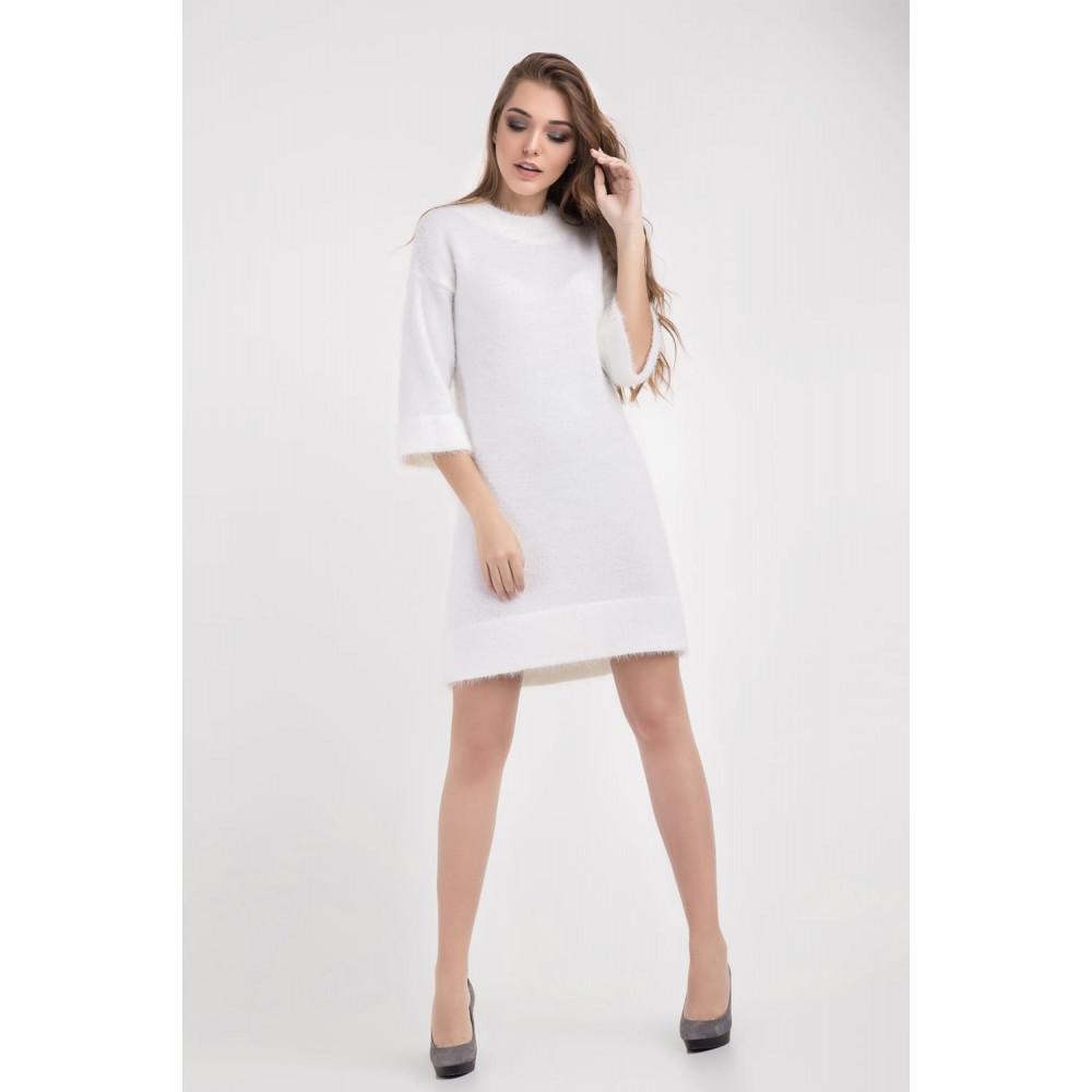 Белоснежное нежное платье фото 4