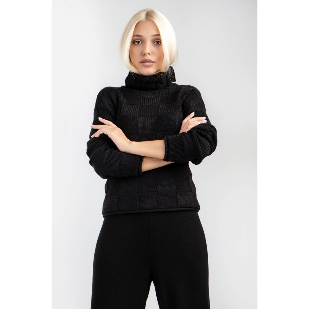 Женский вязаный свитер фото 2