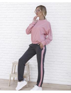 Розово-серый спортивный костюм Barbie
