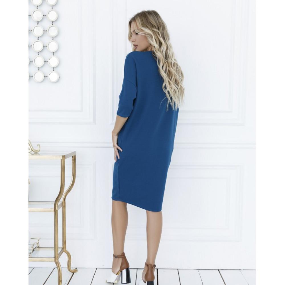 Бирюзовое платье-туника Клео фото 3