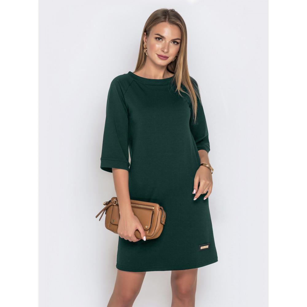 Зеленое платье А-силуэта фото 1
