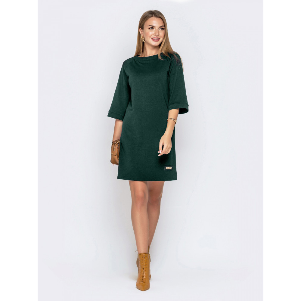 Зеленое платье А-силуэта фото 3