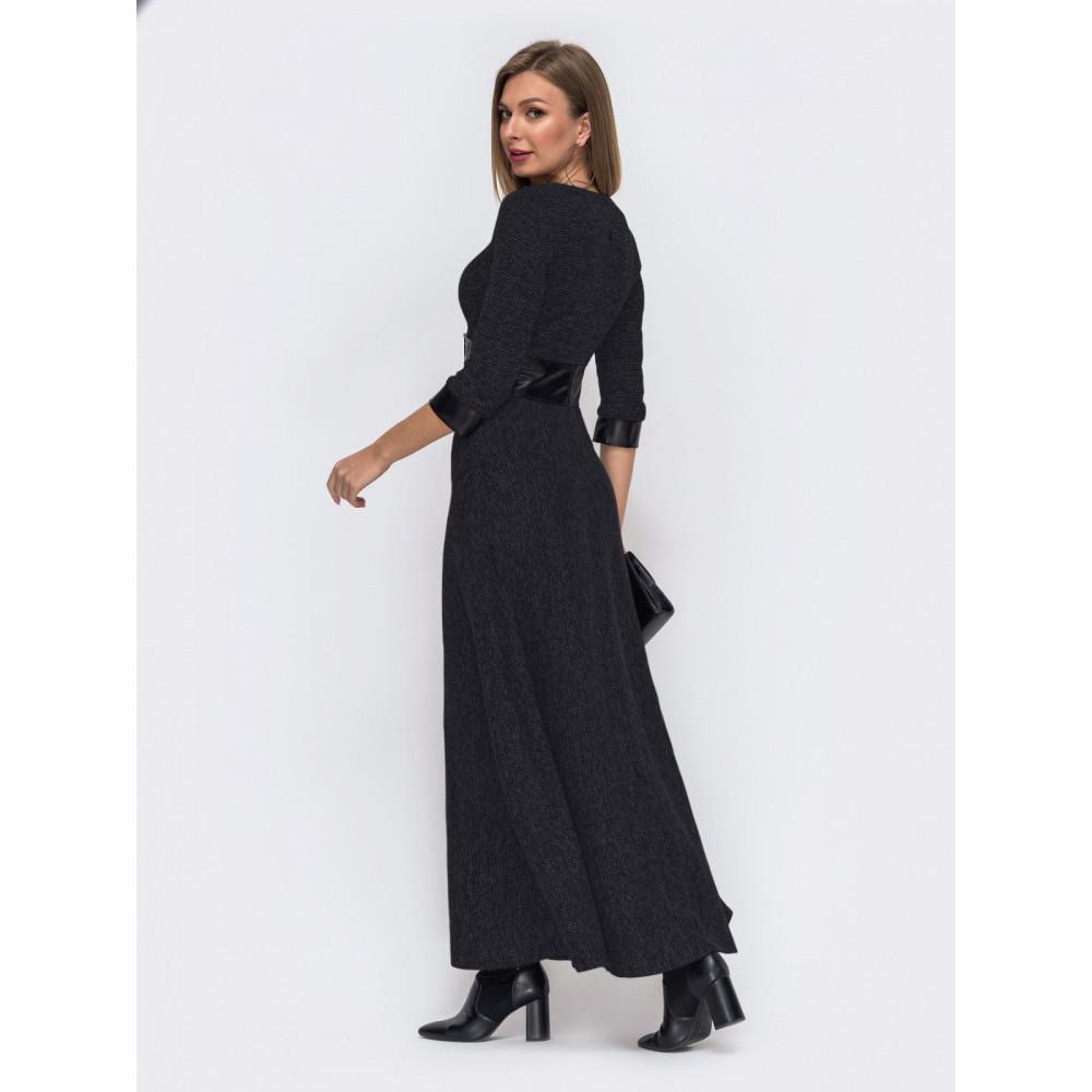 Длинное теплое платье из букле фото 2
