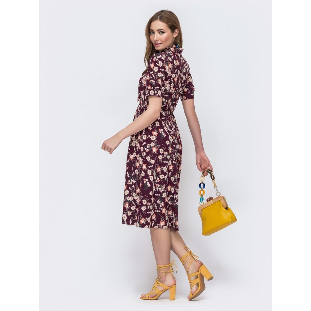 Красивое платье с резинкой в поясе фото 2