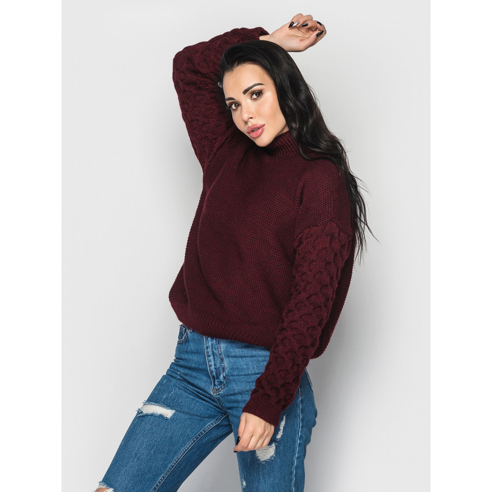 Бордовый свитер Gold  фото 1