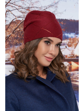 Бордовая шапка-бини Улана